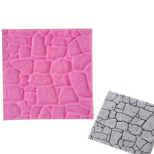 Silicone Mold Stone Wall Pattern Embossing Cake Fondant Mold Crafts Decorating