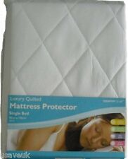 Quilted Single Bed Fitted Mattress Protector 90cm x 190cm