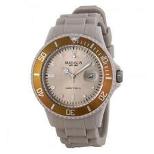 New Madison New York Candy Time XL Creme Brulee Unisex Silicone Dive Watch 44 mm