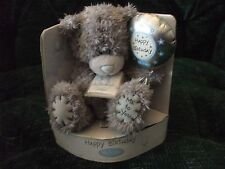 """5"""" grey bear with balloon, carte blanche greetings, me to you, birthday"""