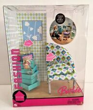 NIB BARBIE DOLL 2005 FASHION FEVER ROOM GO BANANAS CHAIR MONKEY #J0688
