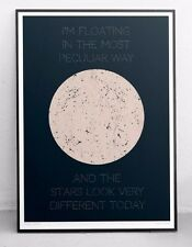David Bowie Poster - Space Oddity - Lyrics / Typography / Song