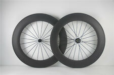 Full Carbon Fiber Wheels 88mm Clincher Powerway R13 hub Wheelset 700c From USA