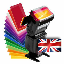 Strobist Colour Lighting Flash Gels & Velcro Speedlite Holder Set - UK SELLER