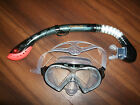 Brand New Sola Adult Mask & Snorkel Set Black Scuba Holidays Diving Snorkelling