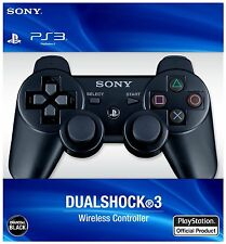 New Official Playstation 3 Dualshock 3 Wireless Controller DS3 Black