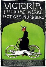Art Deco Poster Victoria Bicycle Cycle Bike Ad Print