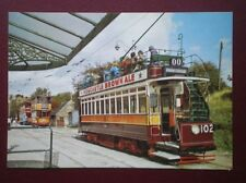 POSTCARD NEWCASTLE CORPORATION TRAM CAR NO 102 IN THE BACKGROUND TRAM 812 & 1115