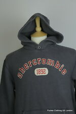 ABERCROMBIE MENS HOODIE LARGE RUGGED GREY VINTAGE CHUNKY SWEATER HOODED WINTER
