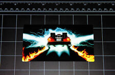 Back to the Future OUTATIME Delorean flames decal sticker BTTF Marty Mcfly flux