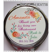 Personalised Compact Mirror - New - Bridesmaid, Birthday