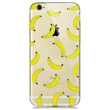 Soft Silicon Banana Print Pattern Transparent Back Case Cover For Apple iPhone 7