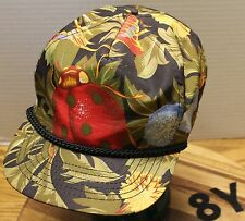 UNIQUE LADYBUG HAT WITH LEAVES AND FLOWERS SNAPBACK ADJUSTABLE VERY GOOD COND