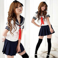 Sexy Japanese High School Girl Sailor Uniform Cosplay Costume Dress Fad Uniform