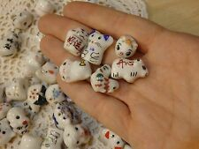 *Wholesale Lot 125* Ceramic Beads Mixed Animals. Cows, chickens, mice, pigs+