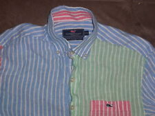 VINEYARD VINES, SOUTHERN POINT, TIDE, CLASSIC FIT 100% LINEN  POLO SHIRT SMALL!!