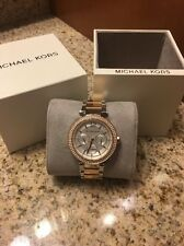 Michael Kors Rose Gold  Silver Watch Two Tone Ladies Womens Mk6301 Parker