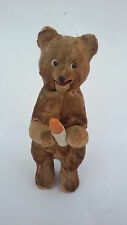 VINTAGE 1960'S WIND-UP RUSSIAN USSR PLUSH BEAR TOY