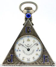 Massoneria di alta qualità orologio da tasca in argento massiccio-Masonic Pocket Watch - 1900