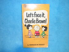 Let's Face it Charlie Brown Charles M. Schulz Fawcett Great Book K1046  1967