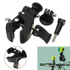 Handlebar Camera Clamp Roll Bar Mount + Adapter For Gopro Hero 2 3 3+ 4 Session