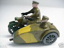 RARE JOHILLCO TOY MILITARY MOTORCYCLE & SIDECAR, WINDUP PROTOTYPE? SOLDIER