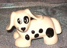 Lego Duplo Bauernhof  Hund  Dalmatiner weiß schwarz  gefleckt Tiere Figur Spot