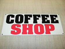 COFFEE SHOP Banner Sign * 4 Fresh Hot Whole Grind Gourmet TEA Cappuccino Machine
