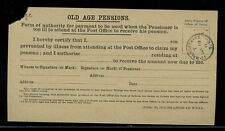 GB 1911 OLD AGE PENSION ILLNESS AGENT AUTHORITY...WALWORTH ROAD CDS