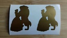 """Beauty and the beast 2"""" vinyl glass stickers tablet laptop x24"""