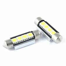2x 6500K CAN BUS Xenon White 4 SMD LED 39 mm Number Plate Bulbs for Seat
