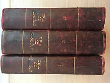 3no. Rare Antique 1877 to 1887 Hebrew Books Mikraei Kodesh, Judaism