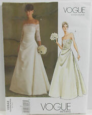 Vogue Pattern #V2842 Bridal Original  Misses Lined Floor Length  Size (12-14-16)