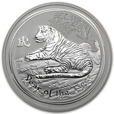 (5) Australia $ 0.5 Lunar Series II Tiger 2010 1/2 oz .999 Silver Coin