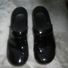 DANSKO BLACK PATENT LEATHER CLOGS SIZE 41