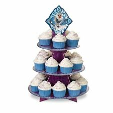 Frozen Cupcake Treat Stand Princess Snowflake Birthday Partty