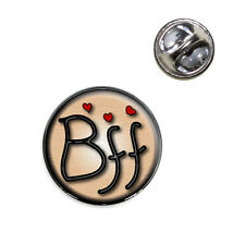 BFF Best Friends Forever Love Hearts Lapel Hat Tie Pin Tack