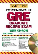 How to Prepare for the GRE : Graduate Record Examination with CD-ROM...
