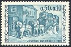 France 1973 Stamp Day/Horses/Mail Coach/Transport/Animals/Nature 1v (n23287)