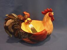 Rooster Dip Bowl and Spreader Certified Intl Corp by Geoffrey Allen