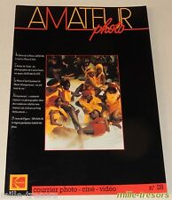 AMATEUR Photo Ciné Vidéo KODAK - N°28 de 1986 - Film Elite - Montage Audiovisuel