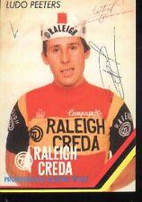 LUDO PEETERS Raleigh cyclisme ciclismo carte dedicacée