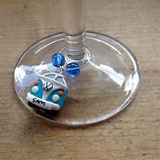 wine glass charm Personalised Campervan Split Screen Wedding Favour Party Bus