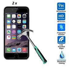 2 x iPhone 4 4S Crystal Clear Tempered Glass Screen Protector Guard Bundle