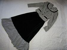 VICTORIAN Edwardian Dickens Titanic Music Man jacket/black skirt costume 6