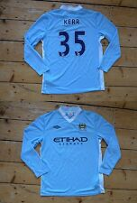 "MANCHESTER CITY football Shirt large soccer JERSEY ""KERR 35"" 2011/12  MAN CITY"