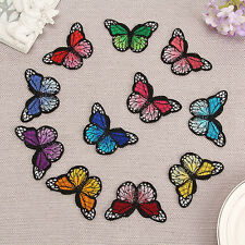 10 Embroidery Butterfly Sew On Patch Badge Embroidered Fabric Applique DIY CHI