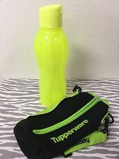 Tupperware Eco Water Bottle w/ Flip Top 1L Neon Yellow New