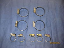 MG  MGB ROADSTER / GT WATER HOSE CLIP SET STAINLESS STEEL 18V 1972ON 9 CLIPS A2C