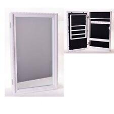 Schmuckschrank mit Spiegel weiß, Spiegelschrank, Schmuckkasten